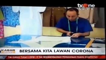 Relawan di Kabupaten Bungo Ciptakan APD untuk Tenaga Medis