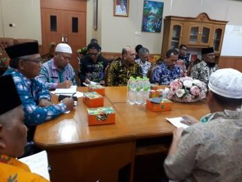 Bupati Bungo dengan OPD   Tokoh Masyarakat/Tokoh Agama tentang penanggulangan Bencana covid-19